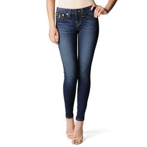 True Religion Dark Wash Stella Skinny Jeans